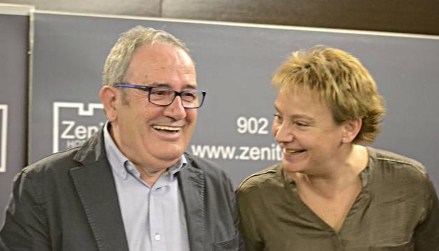 Luis Sabalza y Eva Blanco, cuya candidatura a formar parte de la junta directiva ha sido impugnada por tres socios