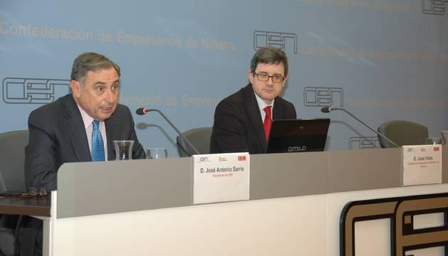 José Antonio Iribas, presidente de la CEN, y el consejero Iribas.