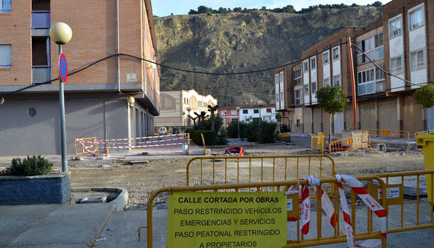Las obras de la calle La Badina, que se iluminará con LED