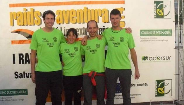 Raiders del Club Deportivo de Norte a Sur en la prueba celebrada en Badajoz