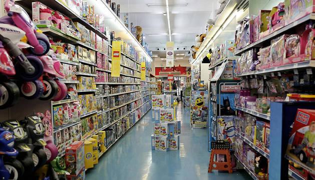 Imagen de una tienda de juguetes en Valencia.