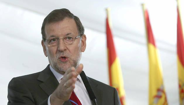 Rajoy, antes del acto institucional.