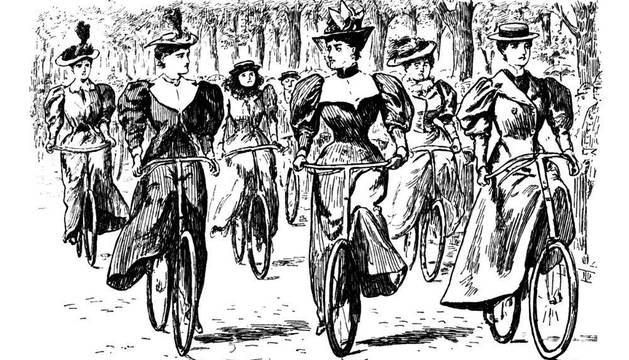 Fotografía del libro 'Damas en bicicleta'