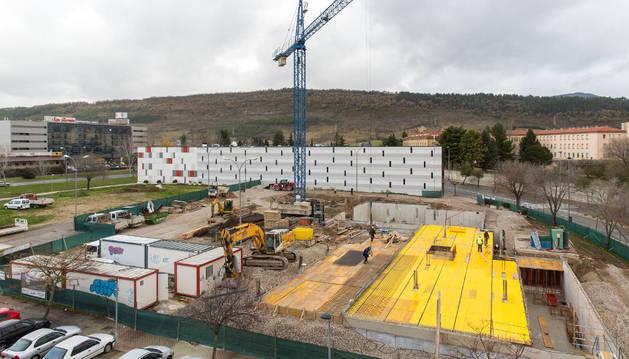 Vista de las obras de la nueva residencia de Cáritas