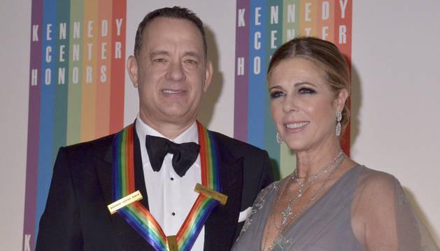 Tom Hanks y Rota Wilson, durante la entrega de los premios del Centro Kennedy.