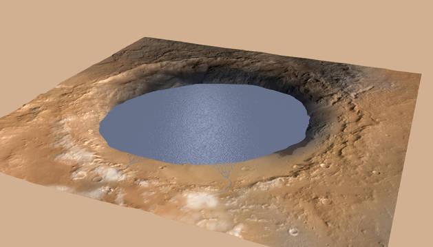 Es posible que hubiera un lago en Marte