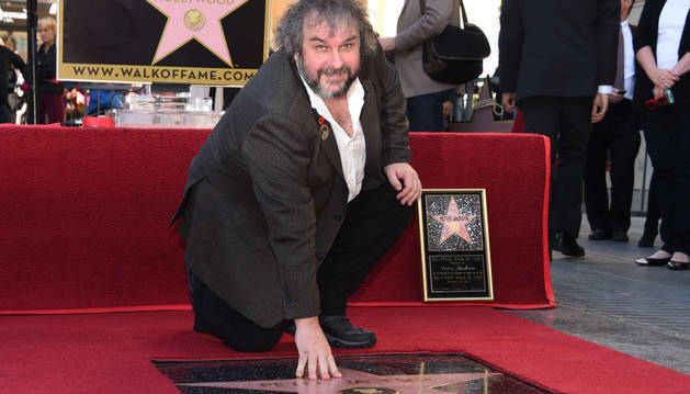Peter Jackson, orgulloso al lado de su estrella
