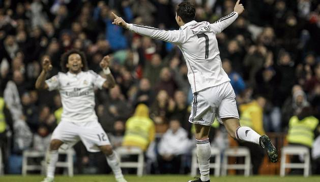 Cristiano celebra su gol contra el Celta