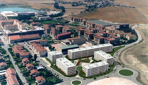 Imagen aérea de la zona nueva de Beriáin
