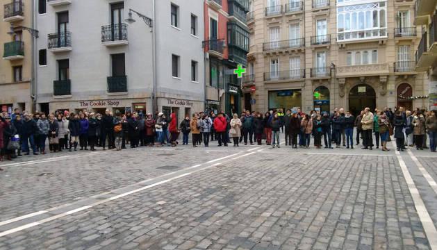 Concentración contra la agresión sexual en Pamplona