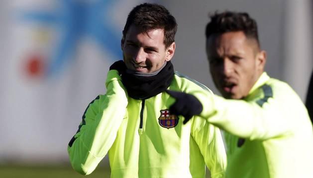 Messi, con Adriano