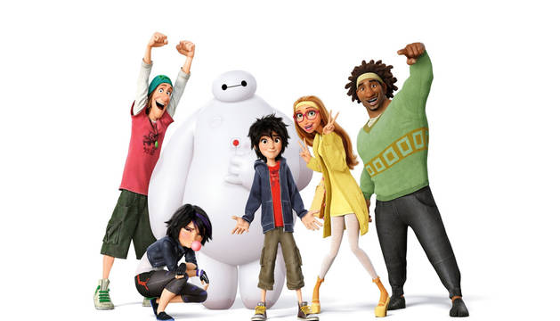 Los protagonitas de 'Big Hero 6'.