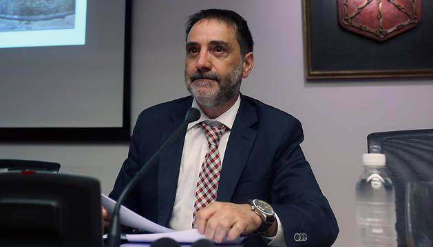 Helio Robleda, en una comparecencia anterior en el Parlamento foral