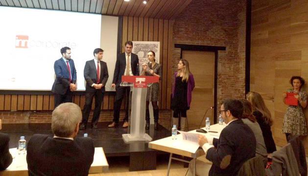 Un momento de la exposición del proyecto en la Fundación Botín