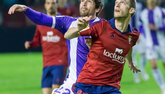 Roberto Torres, en el Osasuna-Valladolid de la pasada temporada