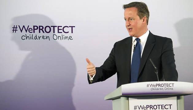 David Cameron, durante la presentación de la iniciativa.