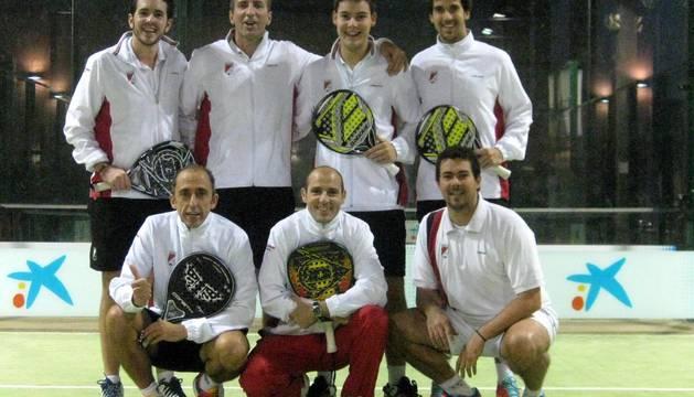 Integrantes del Club Tenis Pamplona, campeón de la Copa Reyno 2014
