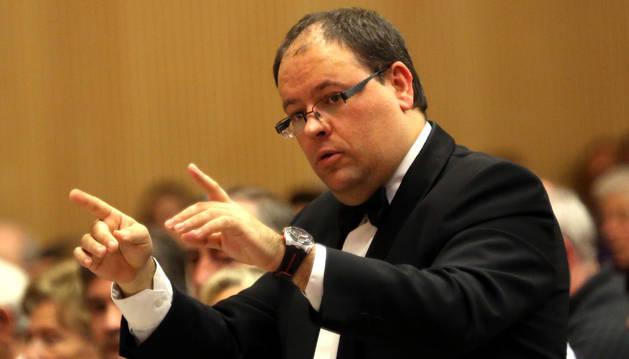 Igor Ijurra, director del Orfeón Pamplonés.