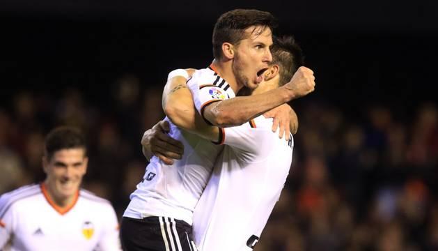 Piatti celebra su gol contra el Rayo