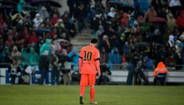 Leo Messi, en Getafe