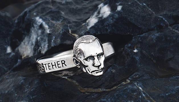 Imagen del anillo con el rostro de Putin