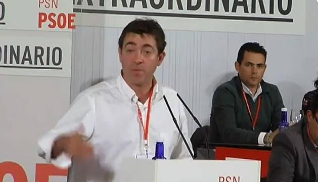 Roberto Jiménez, en el Congreso del PSN