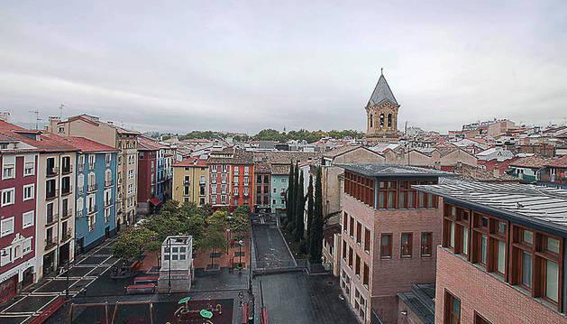 Cielo nuboso en Pamplona