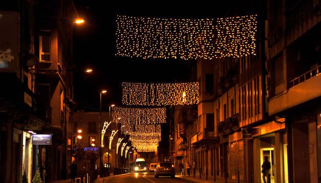 En Tafalla, desde la noche del día 3, ya están las luces navideñas.