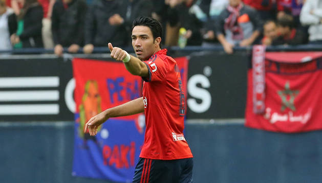 Nekounam celebra un gol en El Sadar