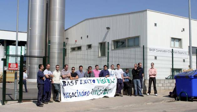 Movilización de los trabajadores de la empresa en 2007