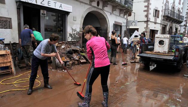 Inundaciones en Elizondo.