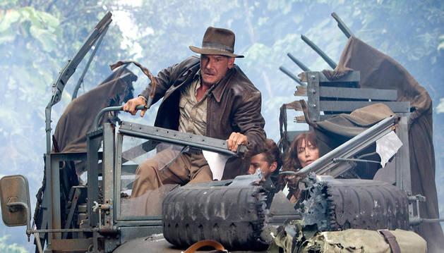 Escena de la cuarta entrega de Indiana Jones.