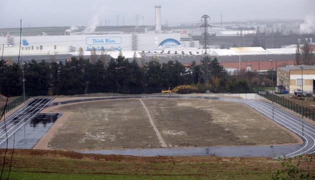 Aspecto de las pistas de atletismo de Barañáin