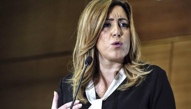 La presidenta de la Junta de Andalucía y secretaria general del PSOE andaluz, Susana Díaz.