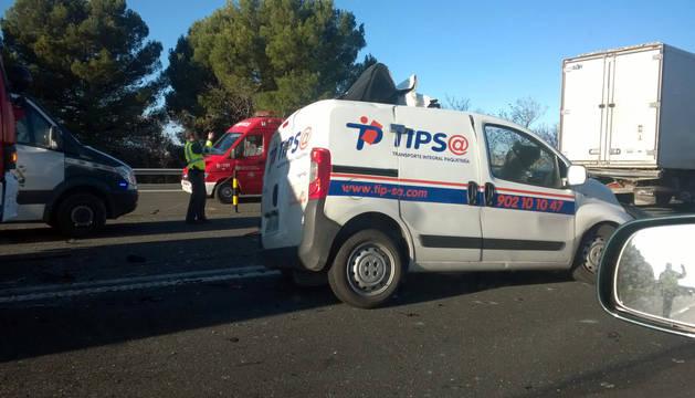 Imagen de la furgoneta implicada en el accidente.