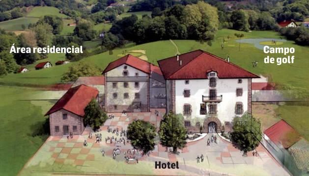 El nuevo hotel y campo de golf de Lekaroz generará 100 empleos