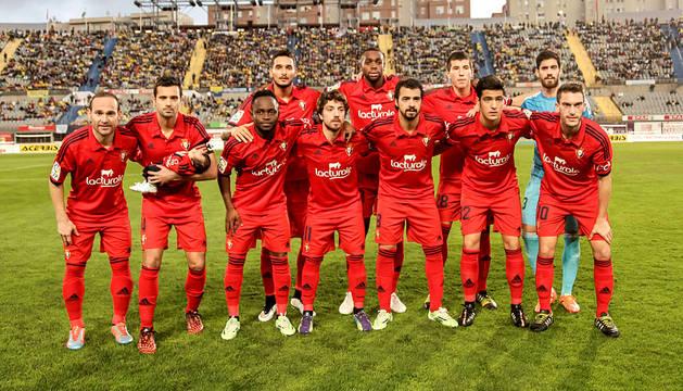 Encuentro correspondiente a la Jornada 18 de la Liga Adelante, temporada 2014/2015, disputado en el estadio Gran Canaria entre la UD Las Palmas y el CA Osasuna. Los rojillos vencieron con tantos de Nino y Mikel Merino.