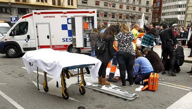 Dos de los heridos en el atropello múltiple de Oviedo se encuentran graves