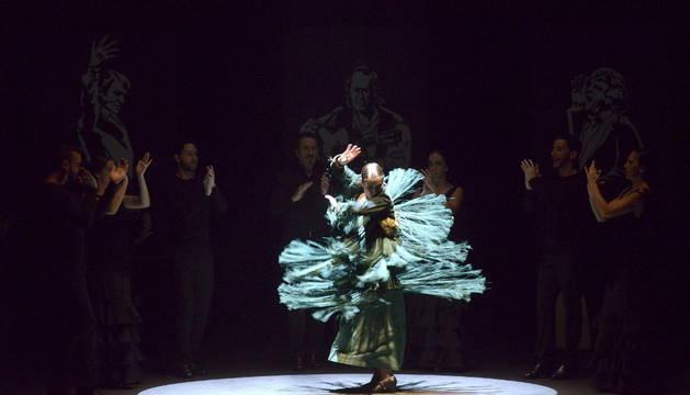 La bailaora Sara Baras, en su espectáculo 'Voces'