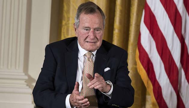 El expresidente de EE UU George H.W. Bush.