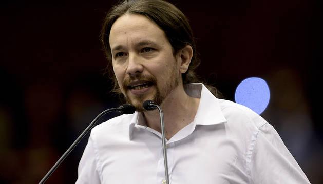 Pablo Iglesias, en su último acto en Barcelona.
