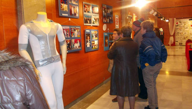 Imagen de la exposición instalada en la casa de cultura de Murchante.