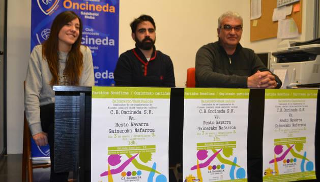 Marta Astiz Calatayud, Martín Archanco Rodríguez y José Antonio López Chasco ayer en la presentación.