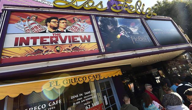 'La entrevista', en el cine Los Feliz 3 Cinema de Los Angeles.