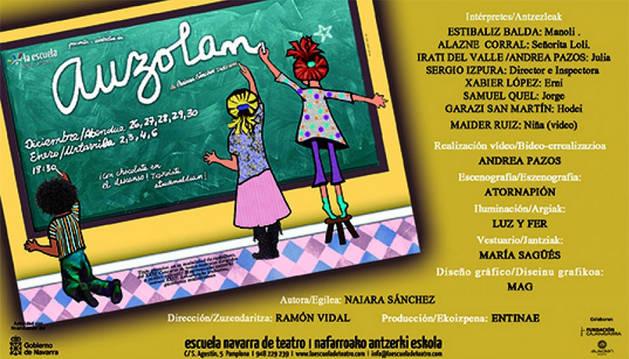 Cartel de la obra 'Auzolan'