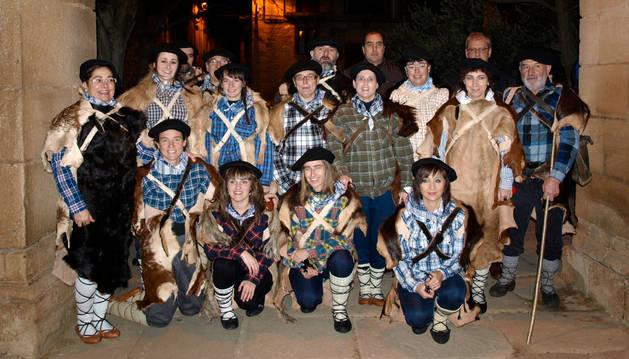 Los participantes de la pastorela de Dicastillo