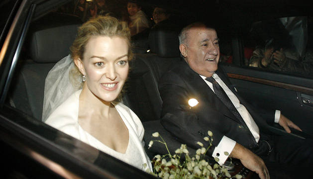 Marta Ortega y su padre, Amancio, el día de su boda.