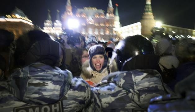 Protestas por la detención del líder de la oposición en Rusia