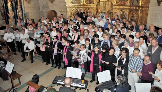 Los coros de la zona de Los Arcos