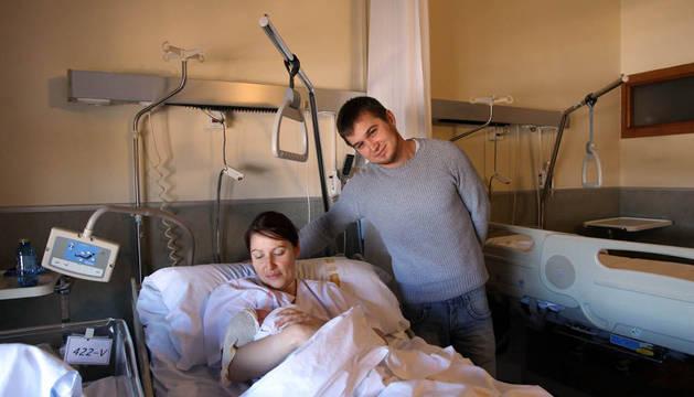 Dimitar Aleksandrov y Magdalena Honorata Zielinska, con Elena